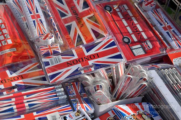 London souvenirs in a tourist shop