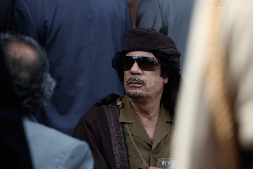 Sunday 25 july 2010 - Muhamar al Gaddafi. Photo credit: Benedicte Desrus