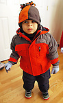Alex is ready for his first day in the snow with the family December 2009.