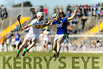 Padraig Boyle Kerry in action against Michael Cleary Offaly in the National Hurling League in Austin Stack Park, Tralee on Sunday.