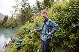 USA, Alaska, Coopers Landing, Kenai River, fishing on the Kenai River