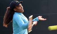 KEY BISCAYNE, FL - APRIL 02: Serena Williams and boyfriend / coach Patrick Mouratoglou on the practice court during day 11 of the Miami Open at Crandon Park Tennis Center on April 2, 2015 in Key Biscayne, Florida.<br /> <br /> <br /> People:  Serena Williams<br /> <br /> Transmission Ref:  FLXX<br /> <br /> Must call if interested<br /> Michael Storms<br /> Storms Media Group Inc.<br /> 305-632-3400 - Cell<br /> 305-513-5783 - Fax<br /> MikeStorm@aol.com