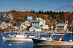 Autumn color in the fishing village Stonington, Midcoast ME
