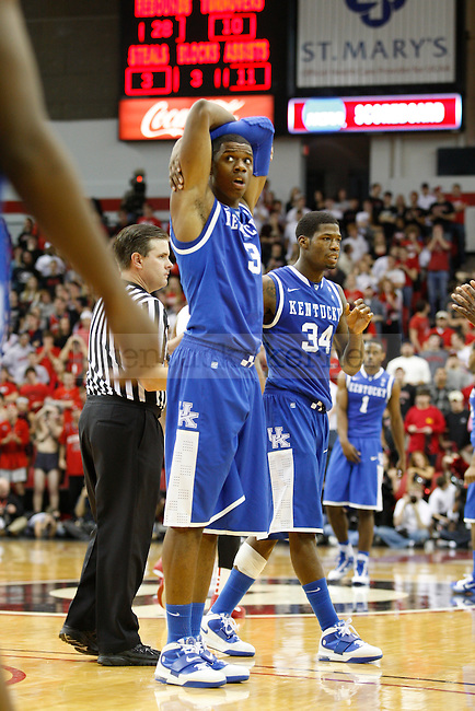 Terrence Jones after a foul was called in the second half of the game against UGA at Stegeman Coliseum on Saturday, January 8, 2010.  Jones 24 points in 23 minutes of play.  Photo by Latara Appleby | Staff
