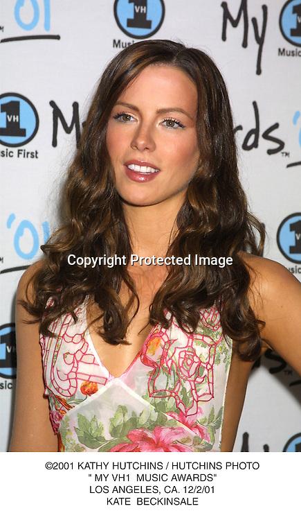 "©2001 KATHY HUTCHINS / HUTCHINS PHOTO."" MY VH1  MUSIC AWARDS"".LOS ANGELES, CA. 12/2/01.KATE  BECKINSALE"