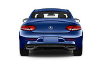 Straight rear view of 2017 Mercedes Benz C-Class C300 2 Door Coupe Rear View  stock images