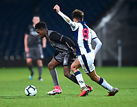 Lincoln City U18's Timothy Akinola gets past West Bromwich Albion U18's Zak Brown<br /> <br /> Photographer Andrew Vaughan/CameraSport<br /> <br /> FA Youth Cup Round Three - West Bromwich Albion U18 v Lincoln City U18 - Tuesday 11th December 2018 - The Hawthorns - West Bromwich<br />  <br /> World Copyright &copy; 2018 CameraSport. All rights reserved. 43 Linden Ave. Countesthorpe. Leicester. England. LE8 5PG - Tel: +44 (0) 116 277 4147 - admin@camerasport.com - www.camerasport.com