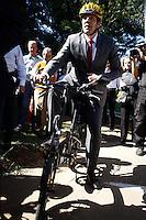 SÃO PAULO,SP,04.08.2014 - INAUGURAÇÃO CICLOVIA ABEL FERREIRA - O prefeito de São Paulo Fernando Haddad inaugurou na manhã de hoje (04) a ciclovia na Av.Abel Ferreira na Agua Rasa zona leste.Com 1,1 km de extensão, o novo percurso está entre as avenidas Salim Farah Maluf e Regente Feijó.(Foto Ale Vianna/Brazil Photo Press).