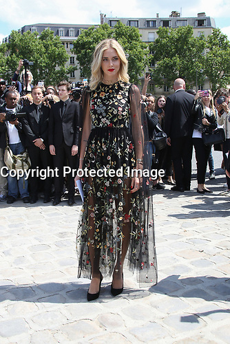 CHIARA FERRAGNI - DEFILE HAUTE COUTURE CHRISTIAN DIOR COLLECTION AUTOMNE-HIVER 2017-2018, PARIS FASHION WEEK, PARIS, FRANCE, LE 03/07/2017.