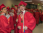 Evan Junjiciu and Jonah Yoelin the Wooster High School Graduation on Saturday, June 10, 2017 at Lawlor Events Center in Reno.