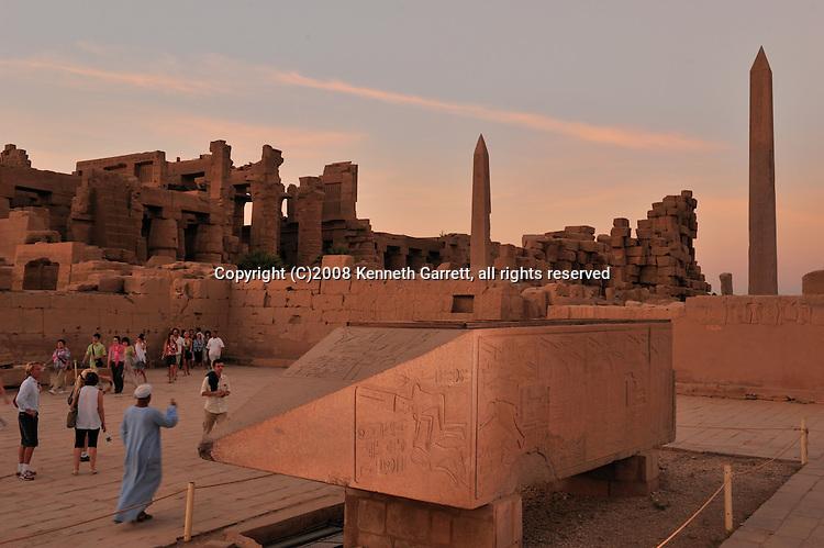 Hatshepsut; MM7715; Karnak Temple; Luxor; Hatshepsut Obelisk; Broken Obelisk; God Amun; sunset; 18th dynasty; New Kingdom