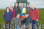 MARKING: marking out the burrows at the causeway Ploughing championships on Sunday on Paul  Thornton land,Castleshannon Causeway, L-r: mKathleen Lawlor (Abbeydorney), Michael Casey, Brendan Quane and Mark Barrett (Causeway), Eoin Casey (Ballyheigue), William Casey,John Casey and Eamon Flynn(Causeway)................................. .. .............................................................. ....................