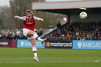 Jill Roord of Arsenal fires over the bar during Arsenal Women vs Liverpool Women, Barclays FA Women's Super League Football at Meadow Park on 24th November 2019