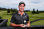 Gareth Paddison with the winners trophy after the Charles Tour, Muriwai Open at Akarana Golf Course, Auckland, New Zealand, Sunday 9 April 2017.  Photo: Simon Watts/www.bwmedia.co.nz