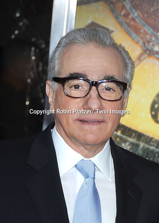 "Martin Scorsese attends The World Premiere of ""Hugo in 3D"" on November 21, 2011 at The Ziegfeld Theatre in New York City."