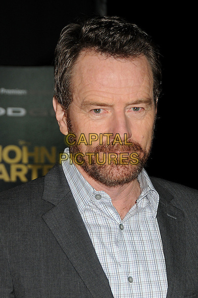 "Bryan Cranston.""John Carter"" Los Angeles Premiere held at Regal Cinemas L.A. Live, Los Angeles, California, USA..February 22nd, 2012.headshot portrait beard facial hair grey gray shirt check.CAP/ADM/BP.©Byron Purvis/AdMedia/Capital Pictures."