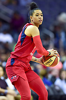 Washington, DC - May 27, 2018: Washington Mystics guard Natasha Cloud (9) in action during game between the Mystics and Lynx at the Capital One Arena in Washington, DC. (Photo by Phil Peters/Media Images International)
