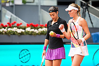 French Caroline Garcia and French Kristina Mladenovic during Doubles Woman Final Mutua Madrid Open Tennis 2016 in Madrid, May 07, 2016. (ALTERPHOTOS/BorjaB.Hojas) /NortePhoto.com