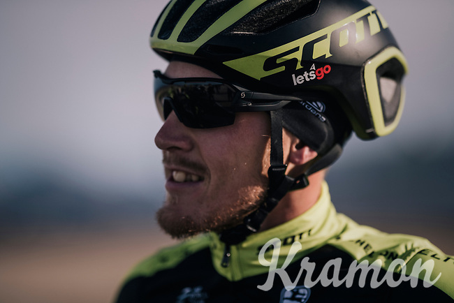 Matteo Trentin (ITA/Michelton-Scott)  at the Michelton-Scott training camp in Almeria, Spain<br /> february 2018