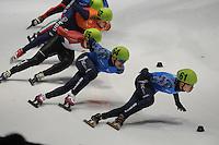 SHORTTRACK: DORDRECHT: Sportboulevard Dordrecht, 24-01-2015, ISU EK Shorttrack, Ruslan ZAKHAROV (RUS | #64), Semen ELISTRATOV (RUS | #61), ©foto Martin de Jong