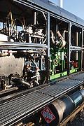 Mount Washington Cog...Biodiesel Locomotive at the summit of Mount Washington. Located in the White Mountains, New Hampshire USA.