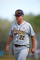 Central Michigan Chippewas hitting coach Steve Jaksa (22) during a game against the Boston College Eagles on March 8, 2016 at North Charlotte Regional Park in Port Charlotte, Florida.  Boston College defeated Central Michigan 9-3.  (Mike Janes/Four Seam Images)