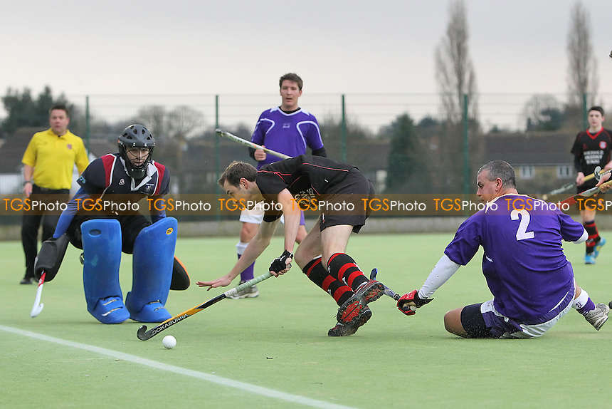 Havering HC vs Crostyx HC - East Hockey League at Campion School - 09/02/13 - MANDATORY CREDIT: Gavin Ellis/TGSPHOTO - Self billing applies where appropriate - 0845 094 6026 - contact@tgsphoto.co.uk - NO UNPAID USE.