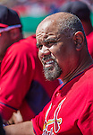 9 March 2014: St. Louis Cardinals Third Base Coach Jose Oquendo watches play from the dugout during a Spring Training game against the Washington Nationals at Space Coast Stadium in Viera, Florida. The Nationals defeated the Cardinals 11-1 in Grapefruit League play. Mandatory Credit: Ed Wolfstein Photo *** RAW (NEF) Image File Available ***