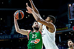 Real Madrid Walter Tavares and Kirolbet Baskonia Tornike Shengelia during Turkish Airlines Euroleague match between Real Madrid and Kirolbet Baskonia at Wizink Center in Madrid, Spain. October 19, 2018. (ALTERPHOTOS/Borja B.Hojas)