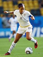 USA's Sydney Leroux during the FIFA U20 Women's World Cup at the Rudolf Harbig Stadium in Dresden, Germany on July 14th, 2010.