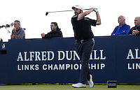 Shane Lowry of Ireland tees off during Round 3 of the 2015 Alfred Dunhill Links Championship at the Old Course, St Andrews, in Fife, Scotland on 3/10/15.<br /> Picture: Richard Martin-Roberts | Golffile