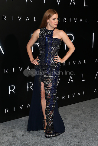 """Westwood, CA - NOVEMBER 06: Amy Adams at Premiere Of Paramount Pictures' """"Arrival"""" At Regency Village Theatre, California on November 06, 2016. Credit: Faye Sadou/MediaPunch"""