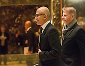 Microsoft CEO Satya Nadella is seen in the lobby of Trump Tower in New York, NY, USA on December 14, 2016. Credit: Albin Lohr-Jones / Pool via CNP