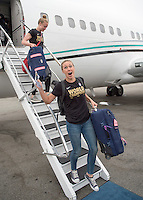 Los Angeles, California - July 6, 2015:  The USWNT arrived back home after winning the FIFA Women's World Cup at BC Place.