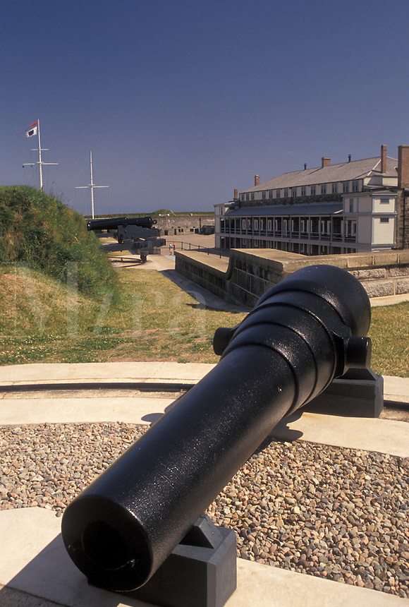 cannon, fort, Citadel, Halifax, Nova Scotia, NS, Canada, Cannon displayed at the Halifax Citadel National Historic Site in Halifax in Nova Scotia.