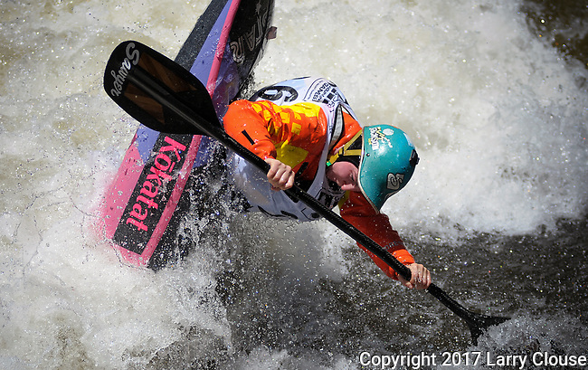 June 9, 2017 - Vail, Colorado, U.S. - New Zealand's, Courtney Kerin, in the Freestyle Kayak competition during the GoPro Mountain Games, Vail, Colorado.  Adventure athletes from around the world meet in Vail, Colorado, June 8-11, for America's largest celebration of mountain sports, music, and lifestyle.