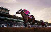 ARCADIA, CA - DECEMBER 26: Drayden Van Dyke guides City of Lights #1 to a decisive victory in the Malibu Stakes at Santa Anita Park on December 26, 2017 in Arcadia, California. (Photo by Alex Evers/Eclipse Sportswire/Getty Images)