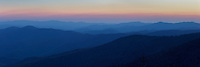 Sunset on Clingmans Dome (6,643 feet) in the Great Smoky Mountains National Park in Tennessee.