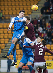 St Johnstone v Hearts&hellip;23.12.17&hellip;  McDiarmid Park&hellip;  SPFL<br />Joe Shaughnessy&rsquo;s header is aved b y Jon McLaughlin<br />Picture by Graeme Hart. <br />Copyright Perthshire Picture Agency<br />Tel: 01738 623350  Mobile: 07990 594431