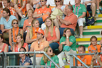 The Hague, Netherlands, June 06: Dutch fans look on during the field hockey group match (Men - Group B) between Germany and The Netherlands on June 6, 2014 during the World Cup 2014 at Kyocera Stadium in The Hague, Netherlands. Final score 0-1 (0-1) (Photo by Dirk Markgraf / www.265-images.com) *** Local caption ***