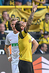 06.10.2018, Signal Iduna Park, Dortmund, GER, DFL, BL, Borussia Dortmund vs FC Augsburg, DFL regulations prohibit any use of photographs as image sequences and/or quasi-video<br /> <br /> im Bild Paco Alcacer (#9, Borussia Dortmund) jubelt nach seinem Tor zum 1:1<br /> <br /> Foto &copy; nph/Horst Mauelshagen