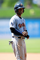 Mason Williams (25) of the Scranton/Wilkes-Barre RailRiders during a game versus the Pawtucket Red Sox at McCoy Stadium on May 27, 2015 in Pawtucket, Rhode Island. (Ken Babbitt/Four Seam Images)