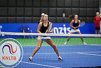 December 16, 2014, Rotterdam, Topsport Centrum, Lotto NK Tennis, Doubles Inge Hendrikx (L) and Tiffany Höberth (NED)<br /> Photo: Tennisimages/Henk Koster