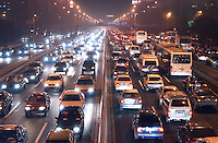 Beijing traffic during rush hour, China..26-NOV-04