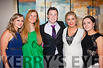 Looking fab<br /> ---------------<br /> Havung the Craic at the Tralee IT Sports&amp;Societies annual ball in the Ballyroe Hts Hotel last Thursday night were L-R Darina Keane,Amy Collins,Jarlach Cearney,Emma Deasy and Susan O'Keeffe