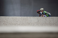 GC Leader Matej Mohoric (SLO/Bahrain Merida) on his way to stage sign on. <br /> <br /> Binckbank Tour 2018 (UCI World Tour)<br /> Stage 6: Riemst (BE) - Sittard-Geleen (NL) 182,2km