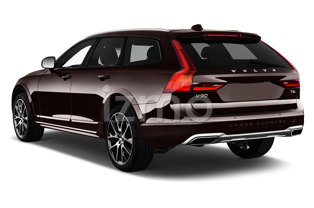 Car pictures of rear three quarter view of a 2017 Volvo V90 Corss Country Pro 5 Door Wagon angular rear