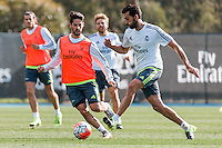 Melbourne, 16 July 2015 - Álvaro Arbeloa of Real Madrid in action during a training session at the Melbourne City Football Academy before their match against AS Roma on 18 July at the 2015 International Champions Cup in Melbourne, Australia. Photo Sydney Low/AsteriskImages.com