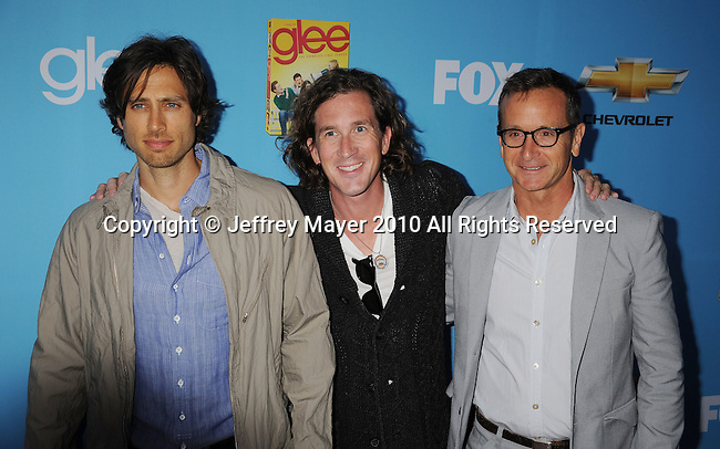 "HOLLYWOOD, CA. - September 07: Brad Falchuk, Ian Brennan and Dante Di Loreto attend the ""Glee"" Season 2 Premiere Screening And DVD Release Party at Paramount Studios on September 7, 2010 in Hollywood, California."