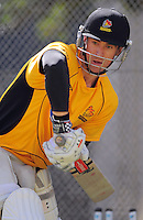 Josh Brodie in action during the Wellington Firebirds training session at Hawkins Basin Reserve, Wellington, New Zealand on Tuesday, 2 October 2012. Photo: Dave Lintott / lintottphoto.co.nz